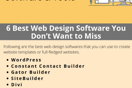 6 Best Web Design Software You Don't Want to Miss Infographic