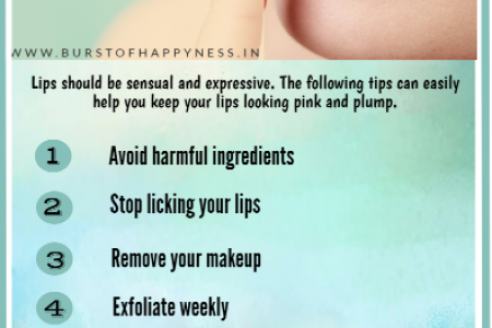6 Easy And Effective Lip Care Tips Infographic