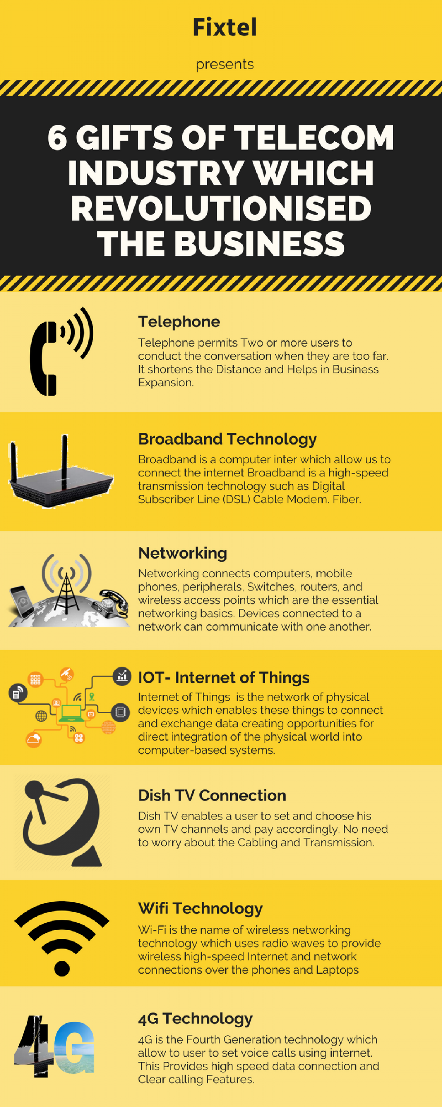 6 GIFTS OF TELECOM INDUSTRY WHICH REVOLUTIONISED THE BUSINESS Infographic