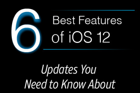 6 Hidden Features of iOS 12 Infographic