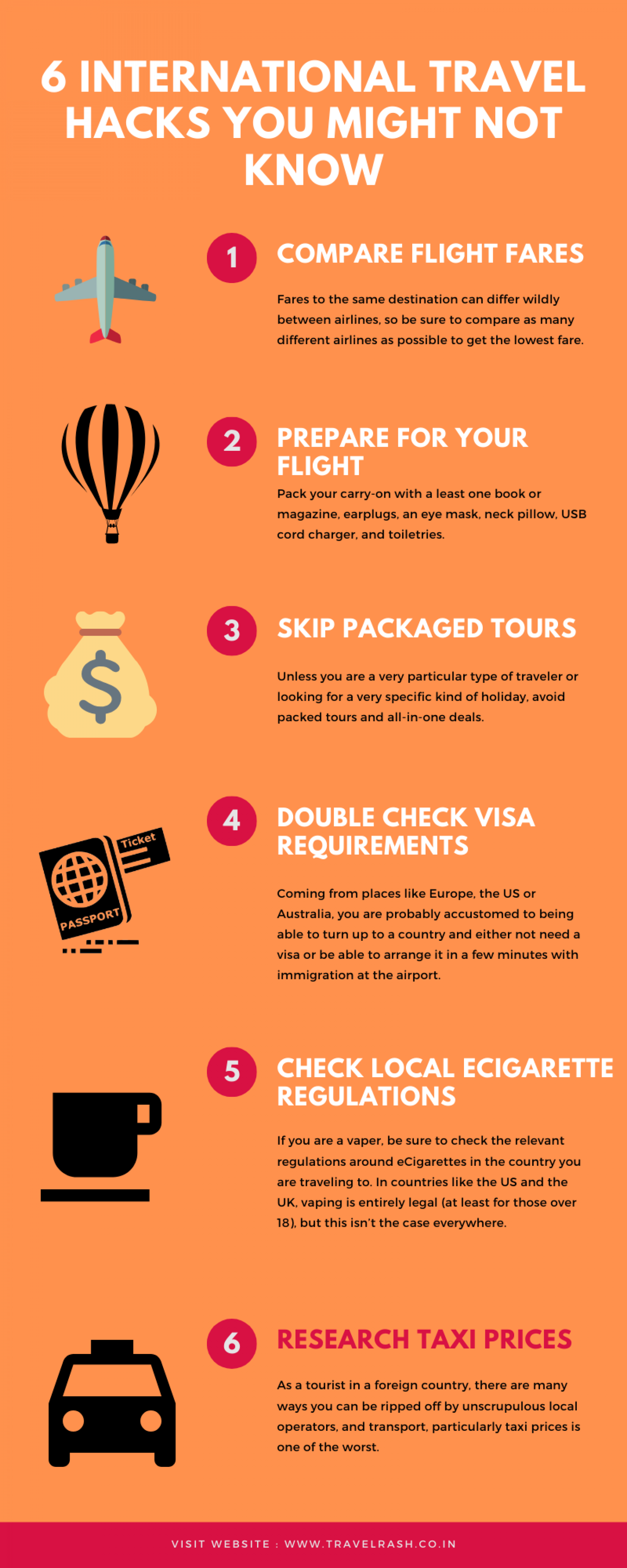 6 International Travel Hacks You Might Not Know Infographic