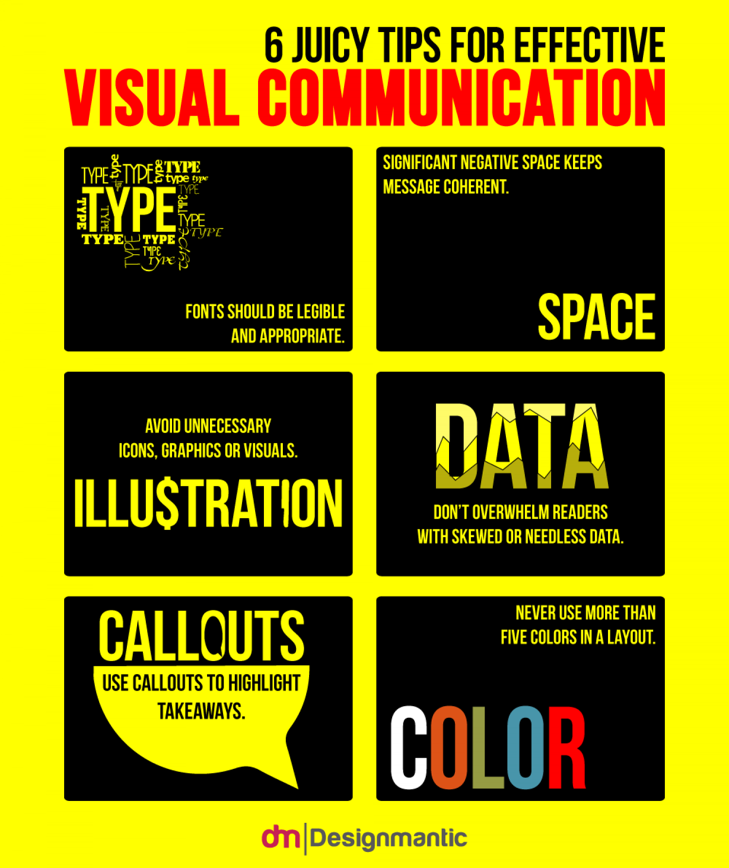 6 Juicy Tips For Effective Visual Communication Infographic