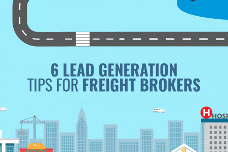 6 Lead Generation Tips for Freight Brokers Infographic
