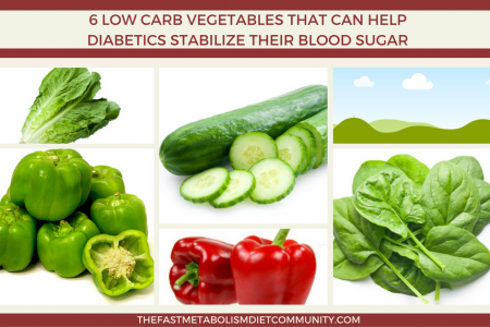 6 Low Carb Vegetables that Can Help Diabetics Stabilize their Blood Sugar Infographic