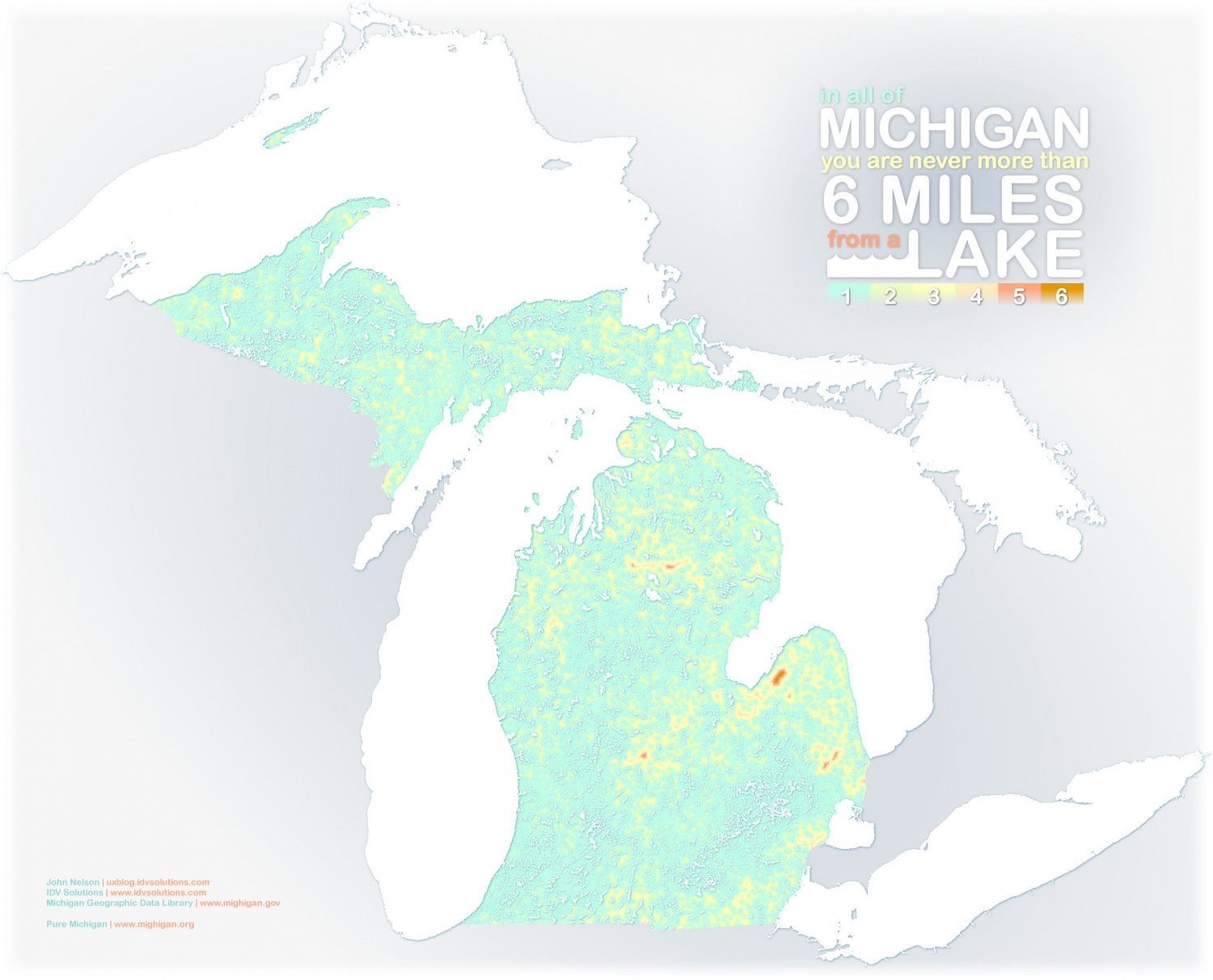 6 Miles in Michigan Infographic
