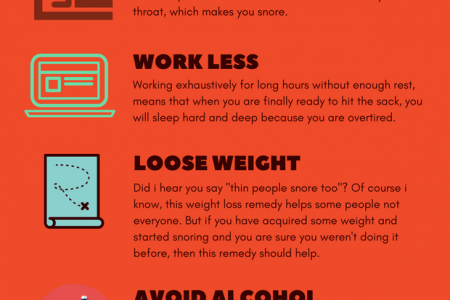 6 Natural and Simple Way to Stop Snoring Infographic