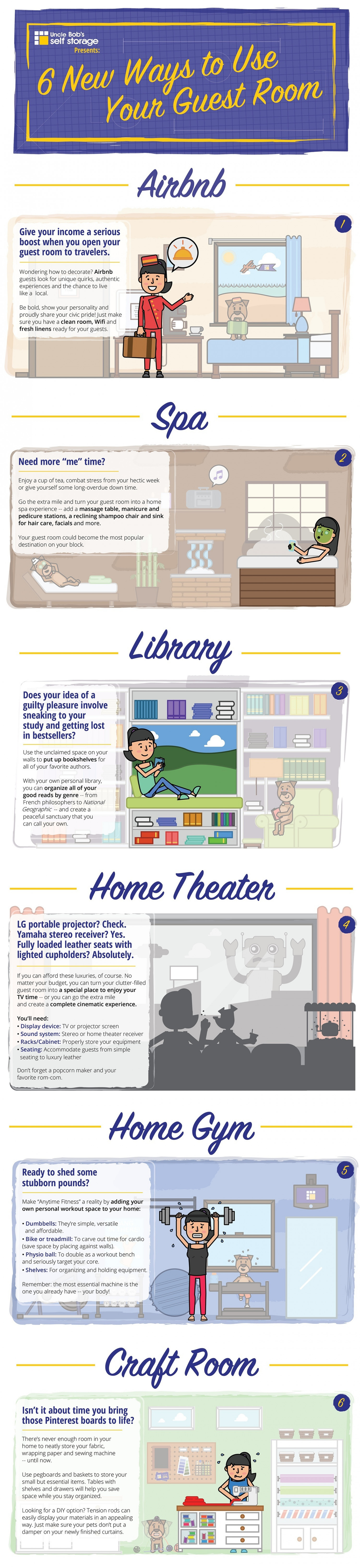 6 New Ways to Use Your Guest Room Infographic
