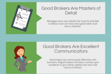 6 Qualities of a Good Mortgage Broker Infographic