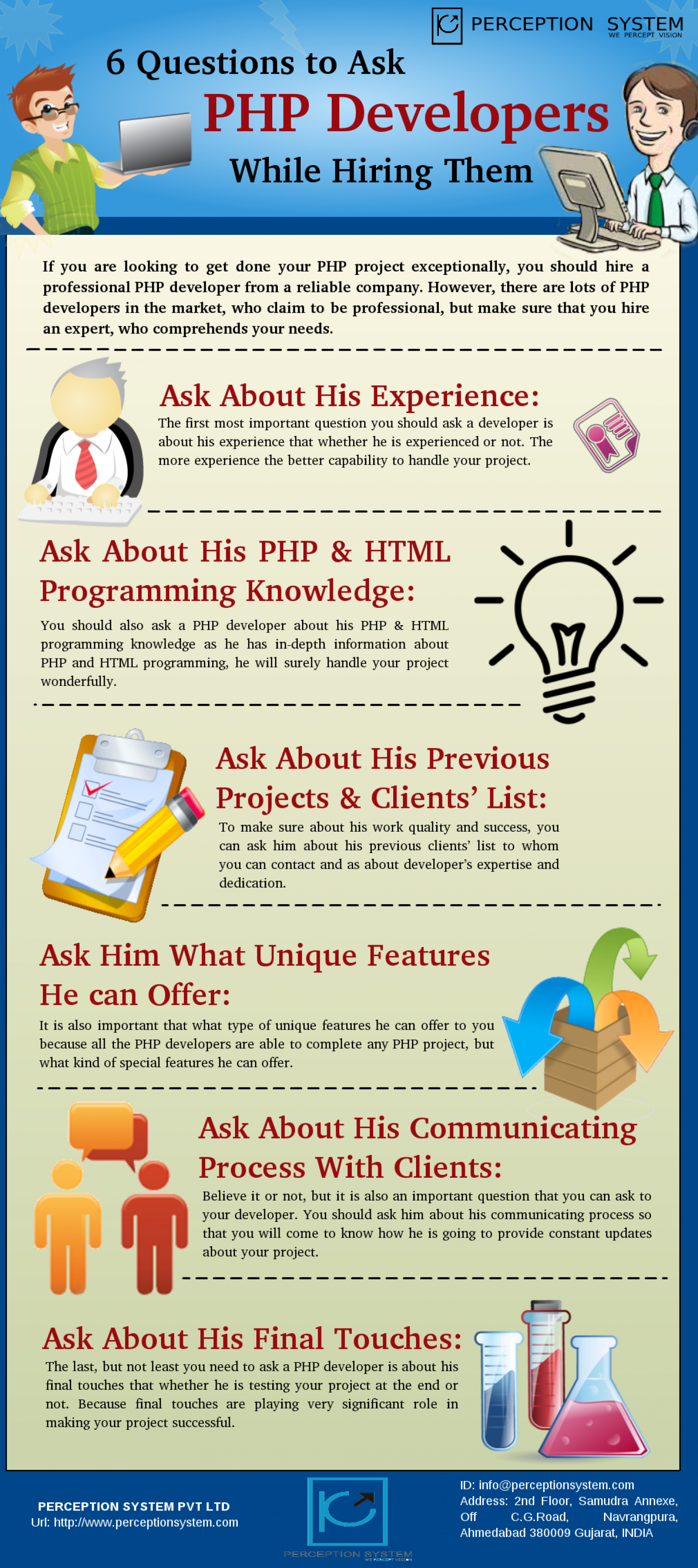 6 Questions to Ask PHP Developers While Hiring Them Infographic