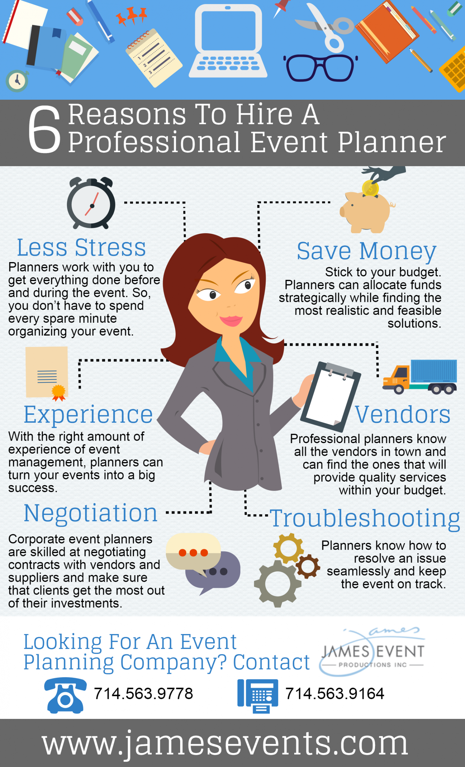 6 Reasons To Hire A Professional Event Planner Infographic