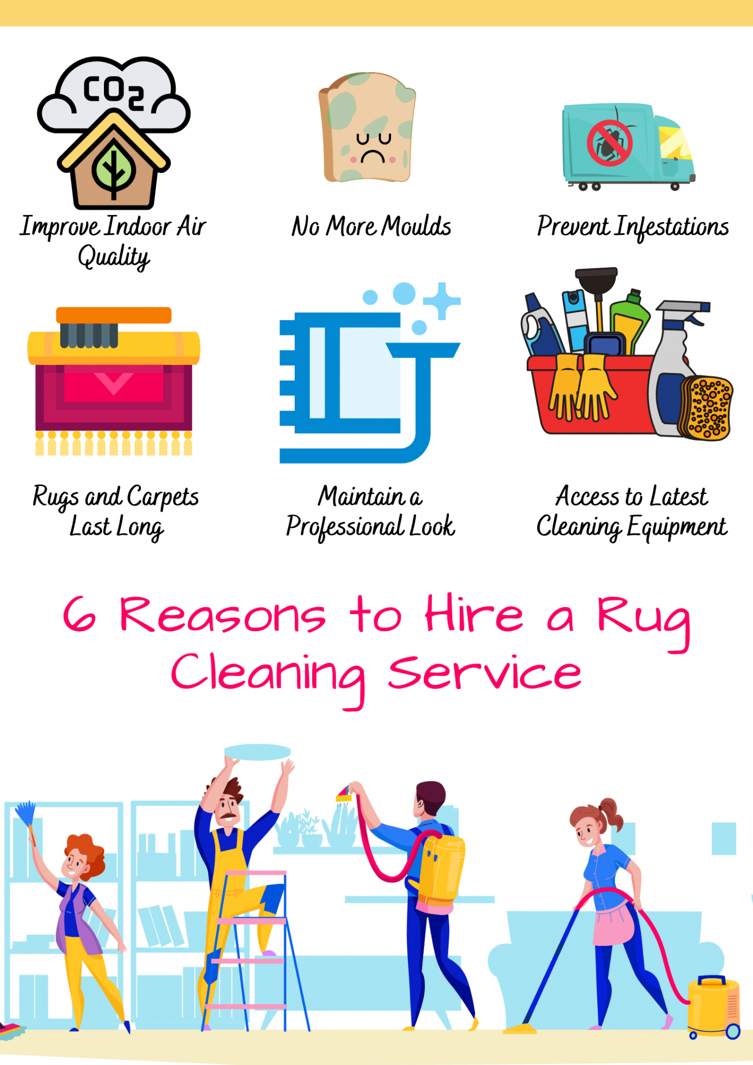6 Reasons to Hire a Rug Cleaning Service Infographic