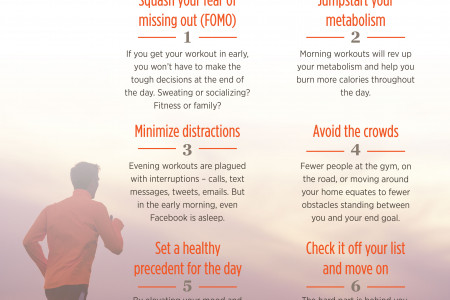 6 Reasons to Work Out in the Morning Infographic