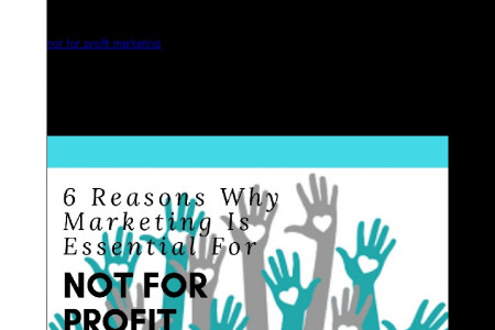 6 Reasons Why Marketing Is Essential For Not For Profit Organisation Infographic