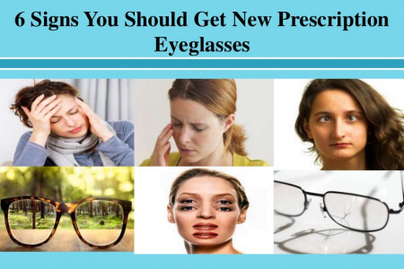 6 Signs You Should Get New Prescription Eyeglasses Infographic