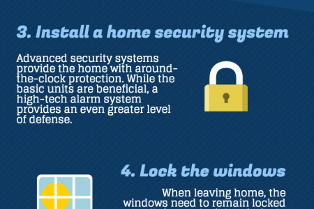 6 Simple Ways to Better Home Security Infographic