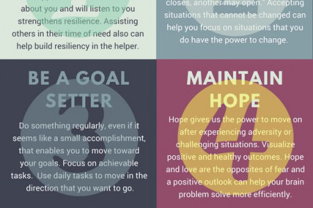 6 Simple Ways to Build Resilience  Infographic