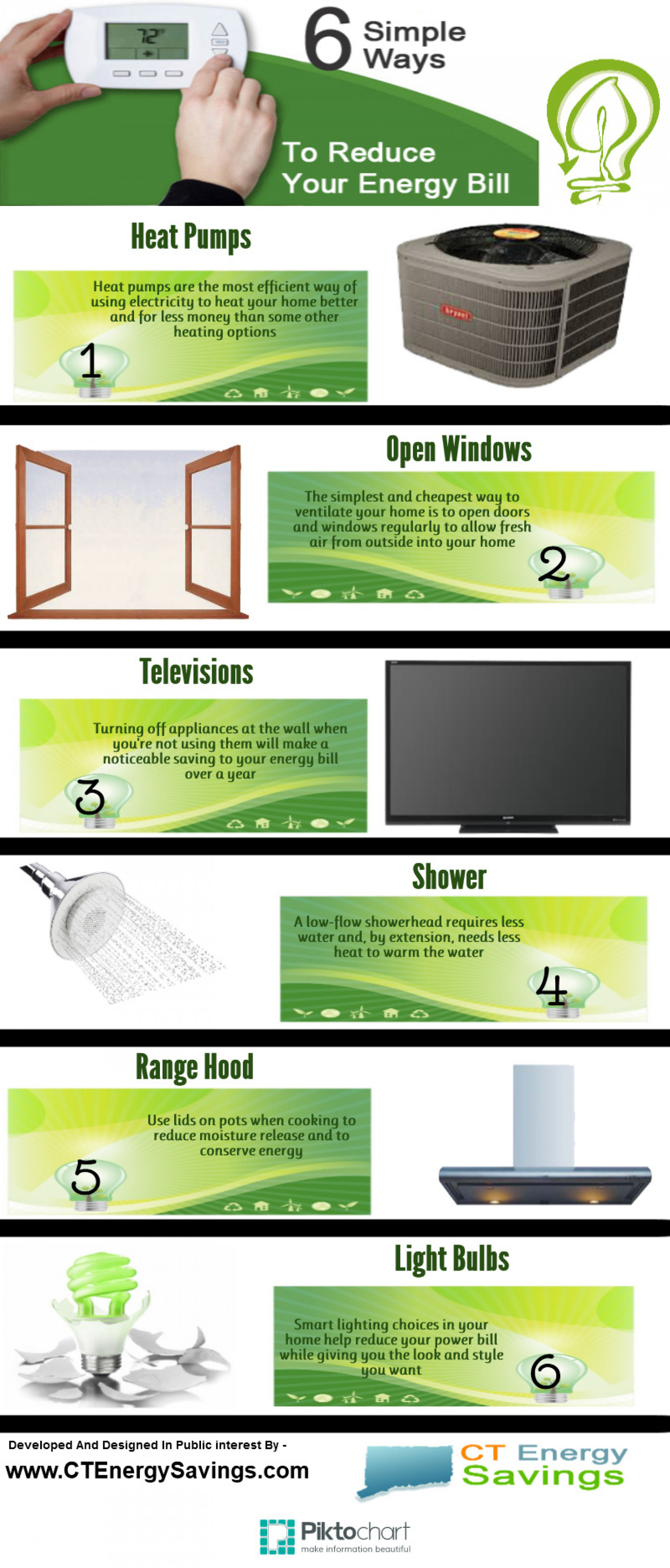 6 Simple Ways To Reduce Your Energy Bill Infographic