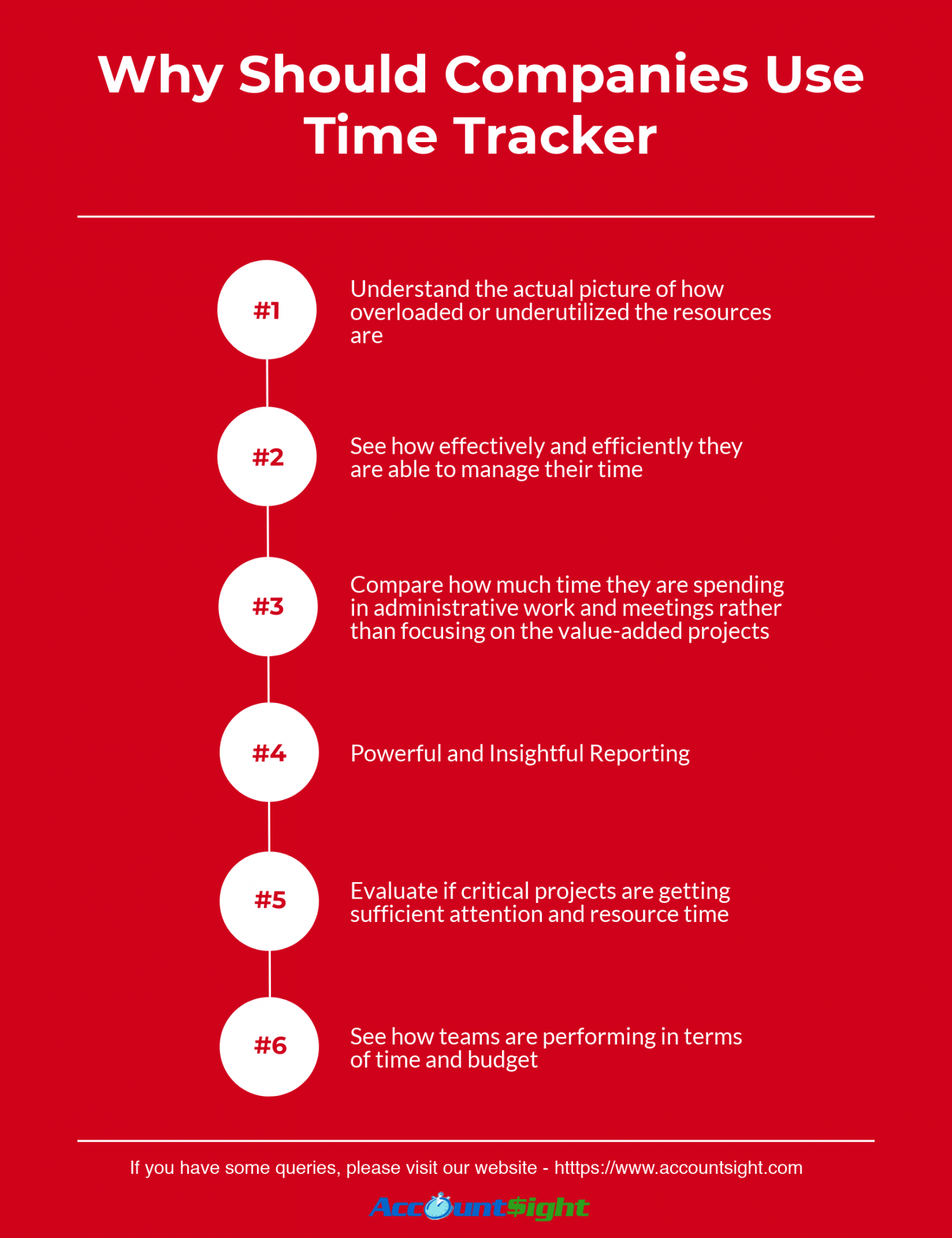 6 solid reasons for companies to use time tracker Infographic