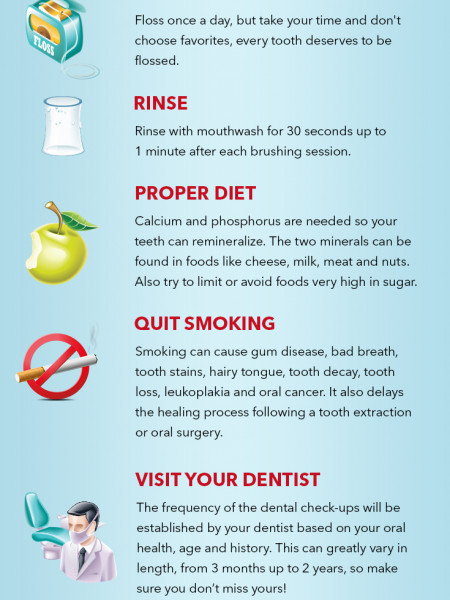 6 Steps For A Healthy Smile Infographic