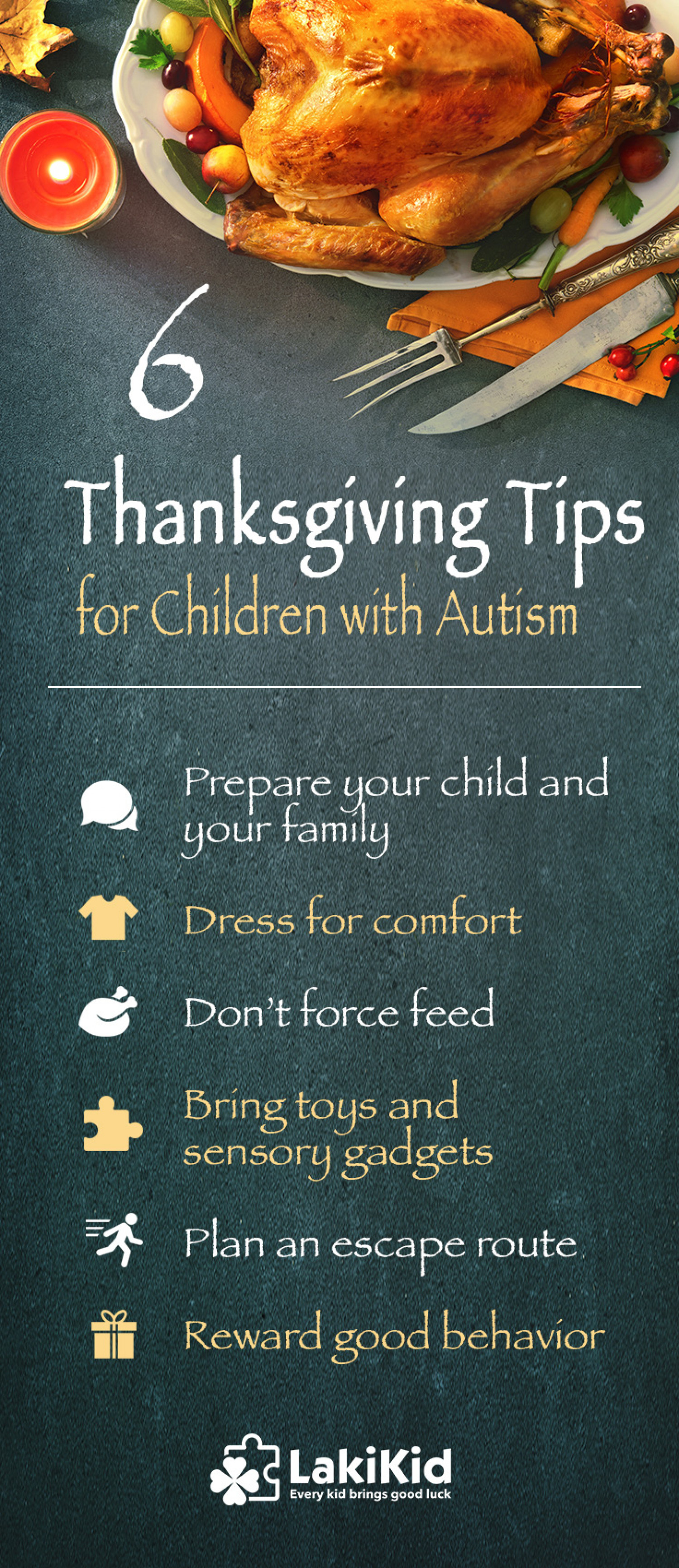 6 Thanksgiving Tips for Children with Autism  Infographic