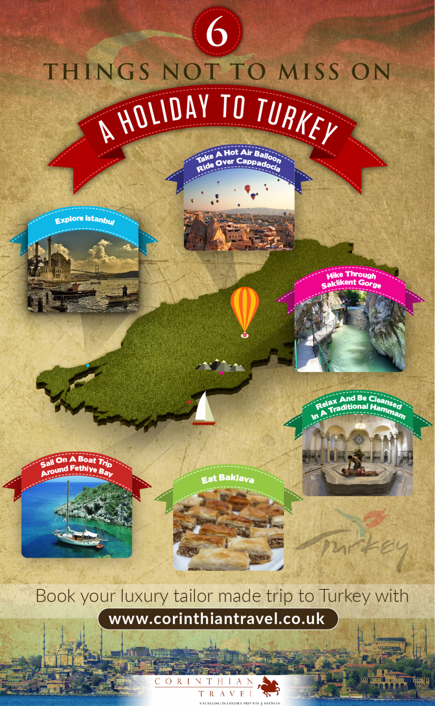 6 Things to See on Holiday in Turkey Infographic