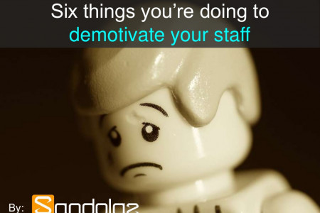 6 Things You're Doing to Demotivate Your Staff Infographic
