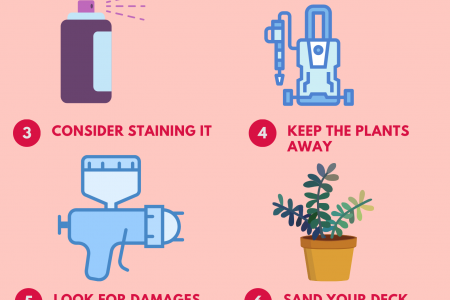 6 Tips for Maintaining Wood Decks Infographic