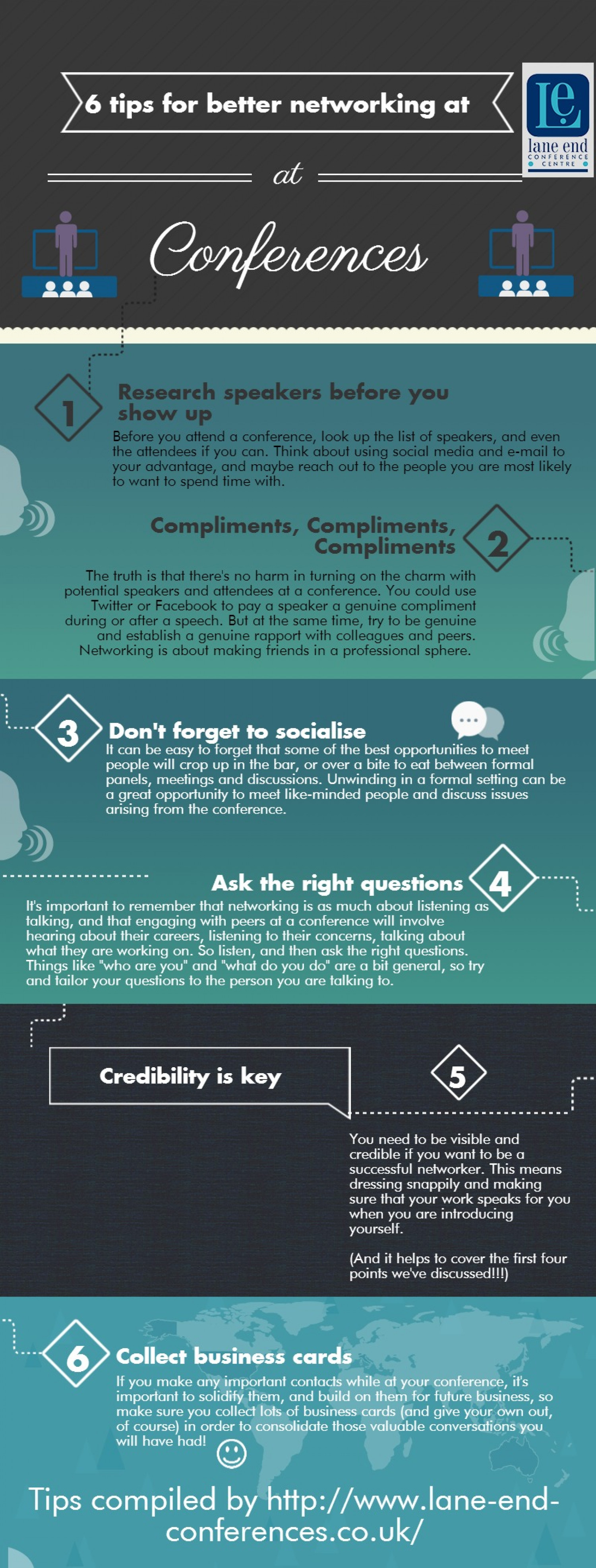 6 tips for networking at conferences  Infographic