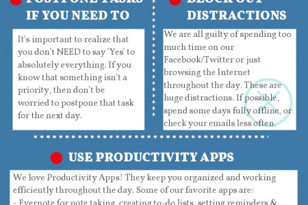 6 Tips To Improve Productivity At The Office Infographic