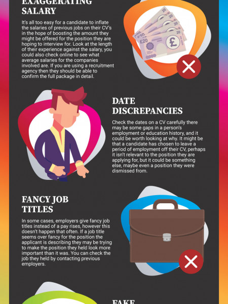 6 Top CV Lies – How to Spot Them Infographic