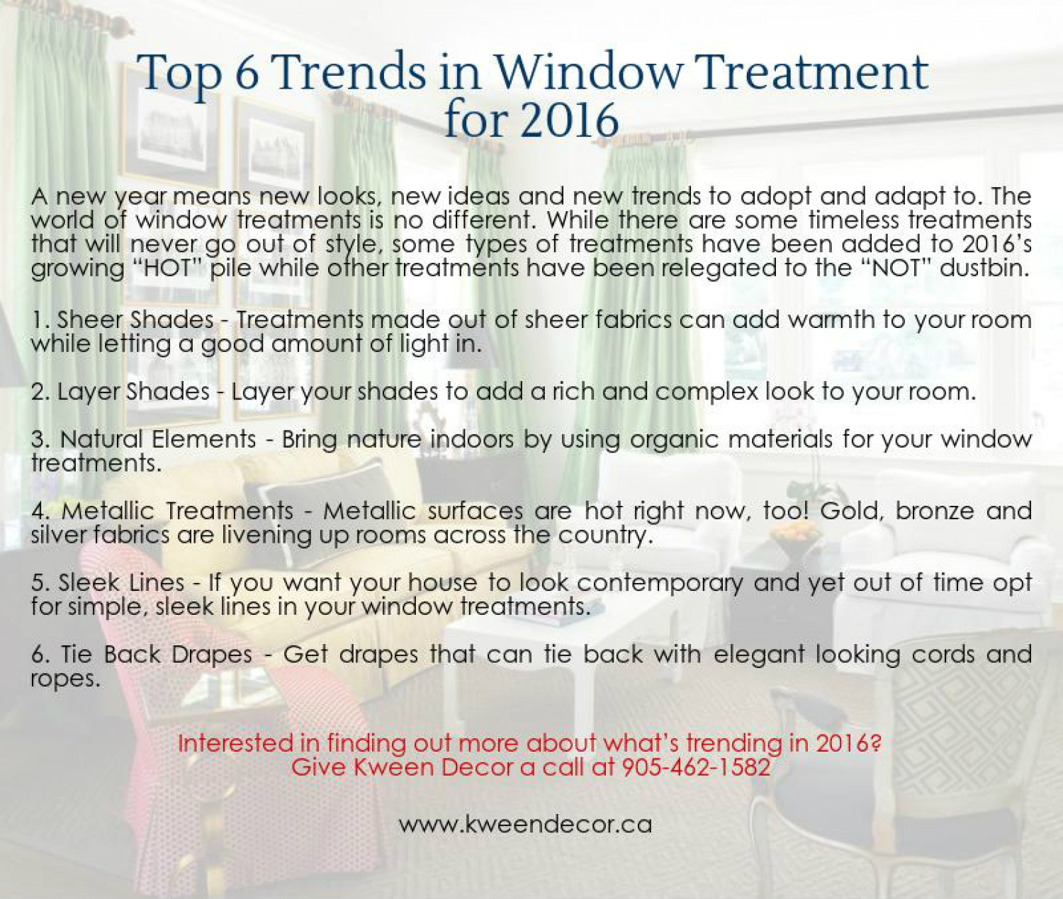 6 Trends in Window Treatments 2016 Infographic