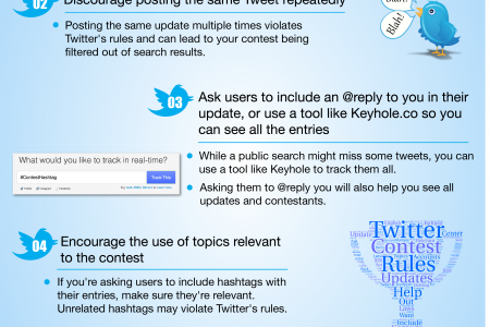 6 Twitter Contest Rules You Need to Follow Infographic