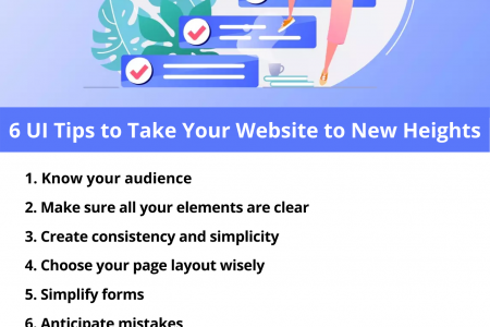 6 UI Tips to Take Your Website to New Heights Infographic