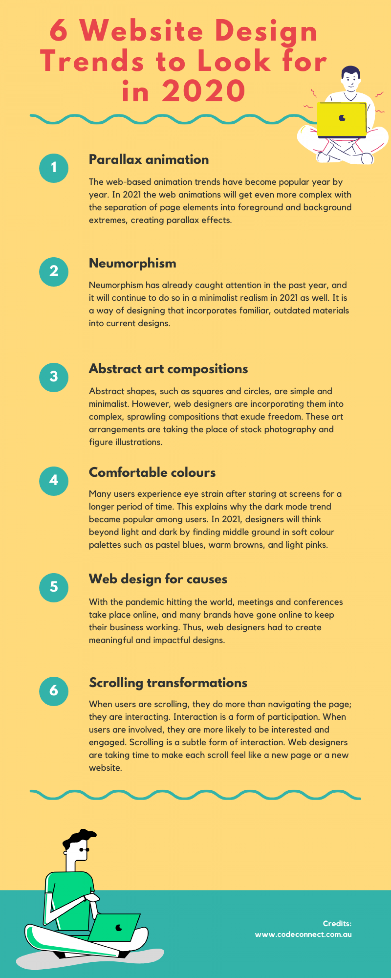 6 Website Design Trends to Look for in 2020 Infographic