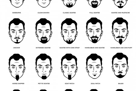 68 Facial hair styles for men: The most definitive, complete guide to facial hair and facial hair styles you'll find at the moment Infographic