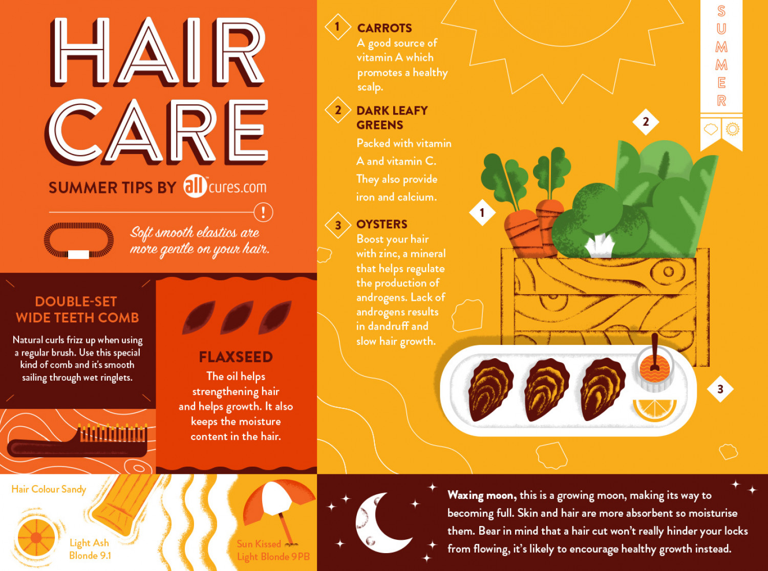 7  Hair Care Tips for Summer Infographic