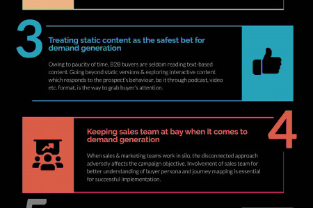 7 B2B Demand Generation Myths For business| Lead Generation Infographic