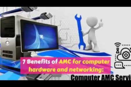 7 Benefits of AMC for computer Hardware and Networking Dubai Infographic