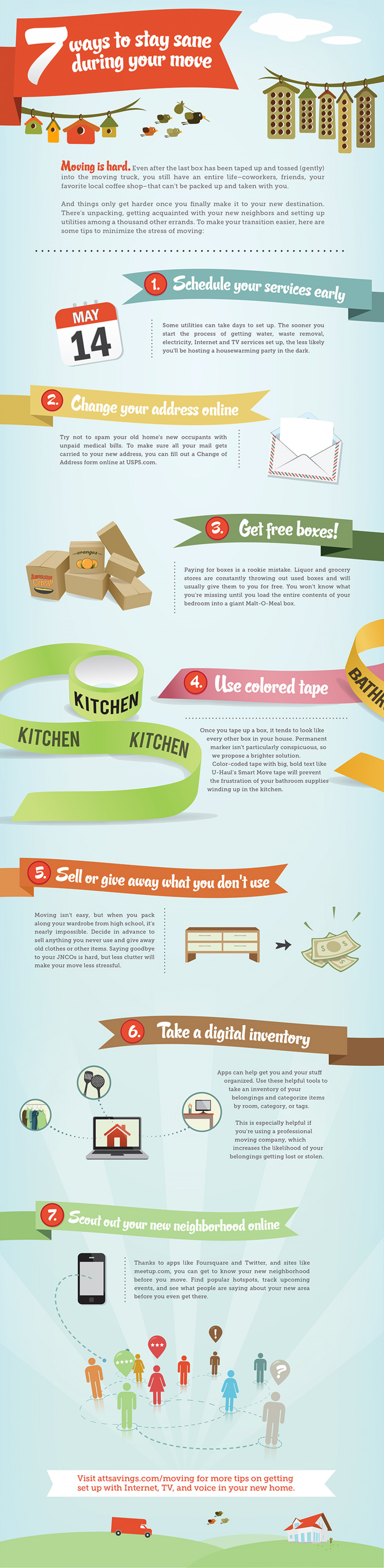7 Best Moving Tips Infographic