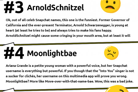 7 Celebrity Snapchats that Made us Lose Our Minds Infographic