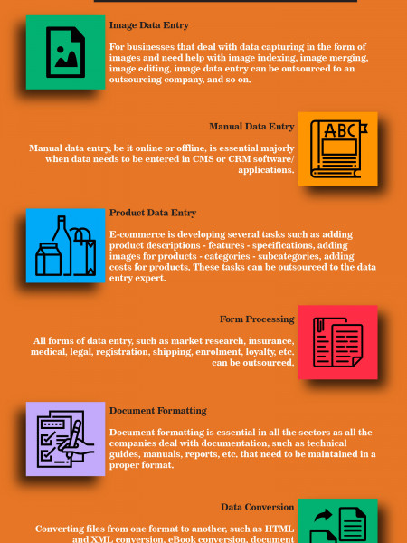 7 DATA PROCESSING TASKS THAT CAN BE OUTSOURCED Infographic