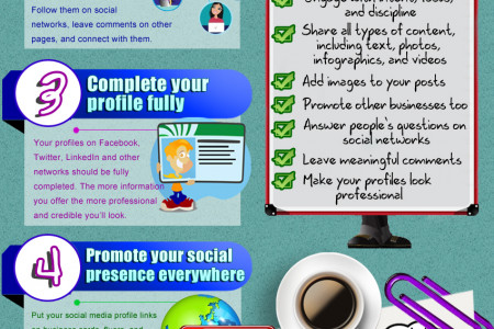 7 Easy Ways To Boost Your Social Media Presence Infographic