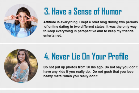 7 Essential Online Dating Tips for Women Infographic