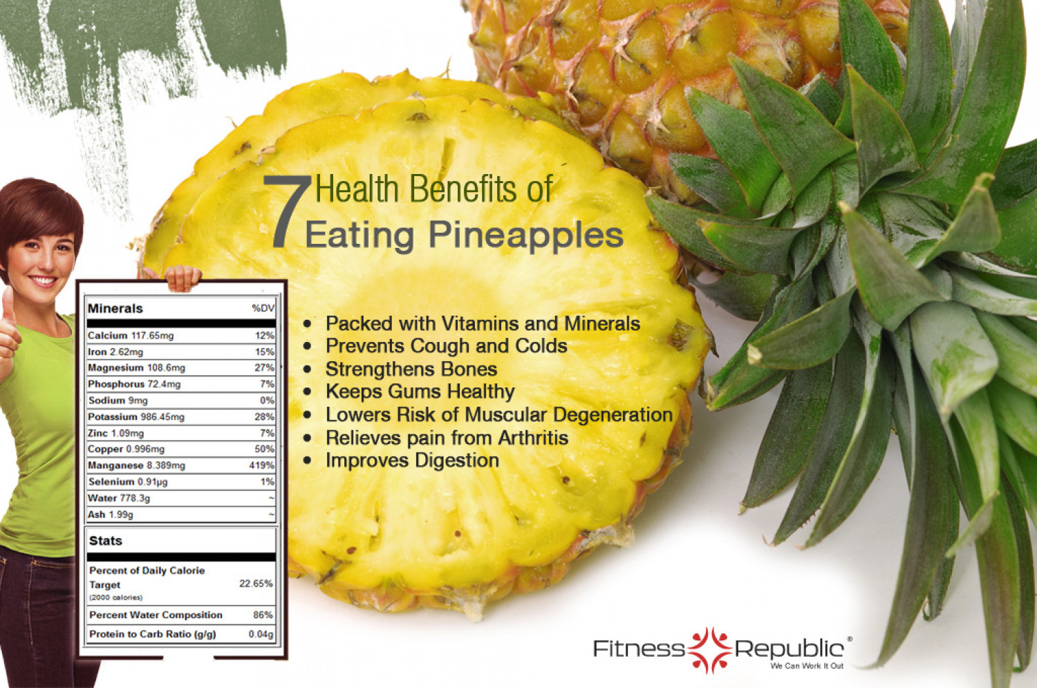 7 Health Benefits Of Eating Pineapples Infographic