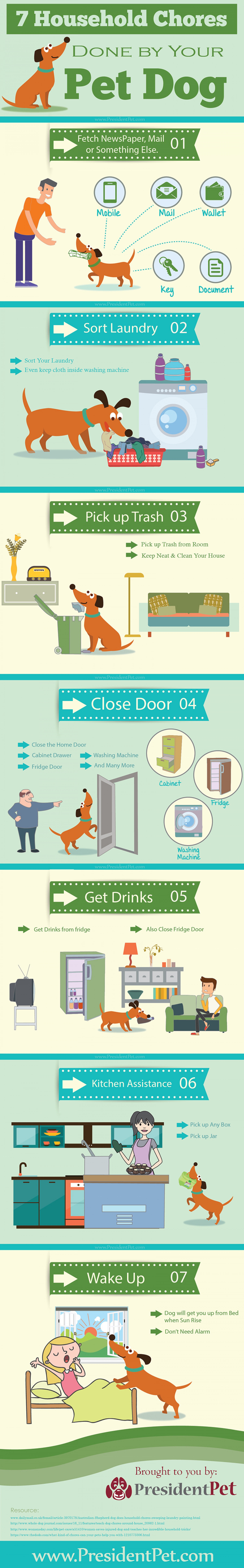7 Household Chores done by your Pet Dog Infographic