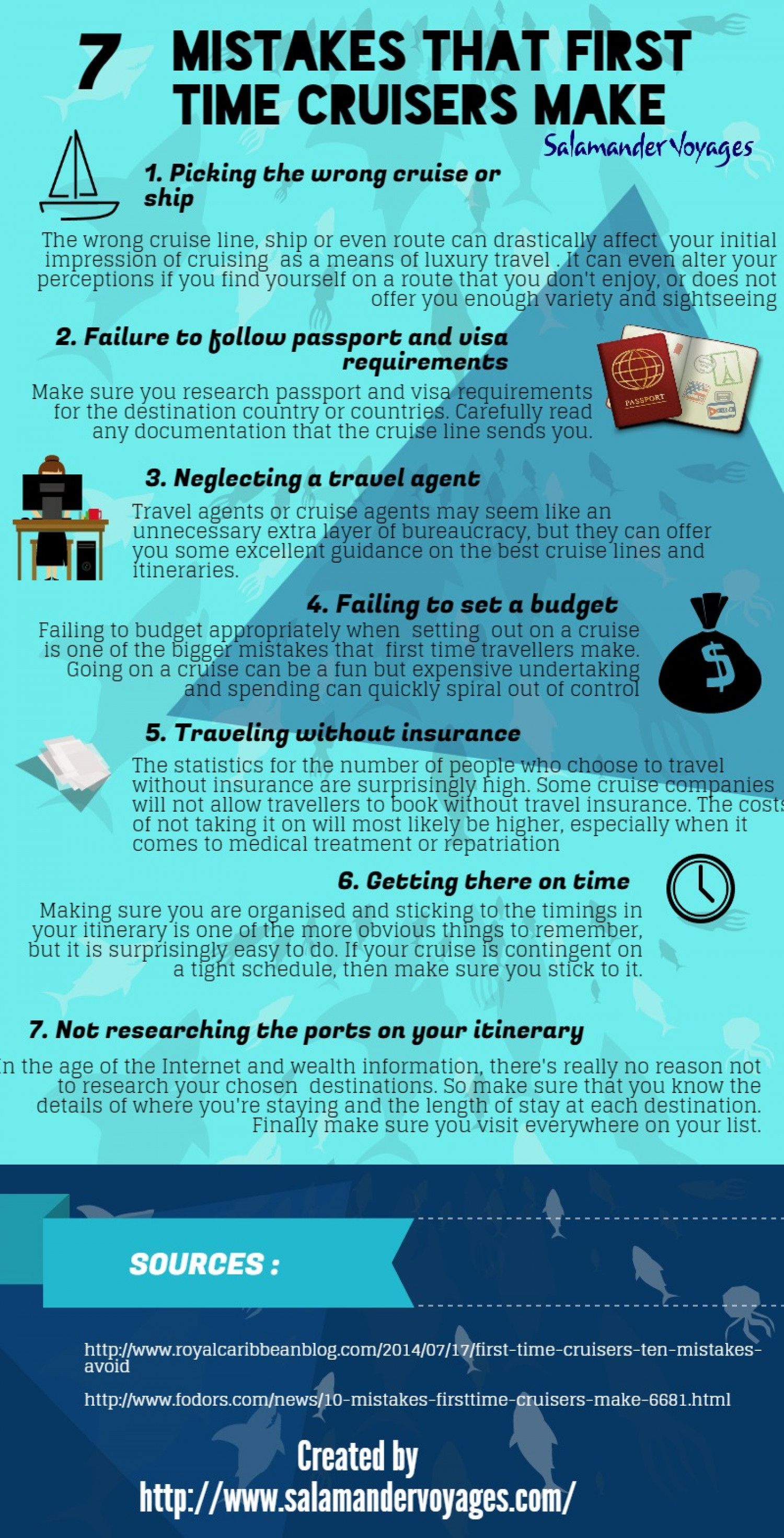 7 Mistakes That First Time Cruisers Make Infographic
