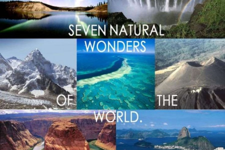 7 Natural Wonders of The World Infographic