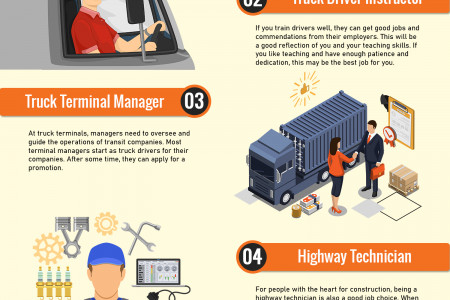 7 Non-Trucking Jobs You Can Get With A CDL Infographic