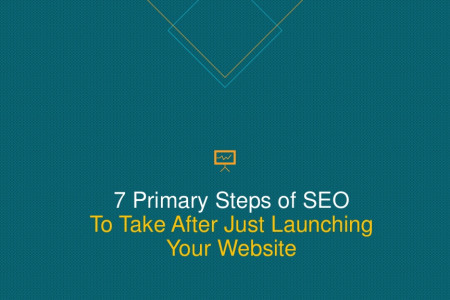 7 Primary Steps of SEO to Take After Just Launching Your Website Infographic