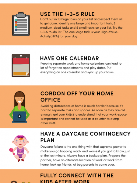 7 Productivity Hacks for Working Mums Infographic
